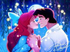 ariel, disney, and love image Disney Fan Art, Disney Nerd, Cute Disney, Walt Disney, Princesa Ariel Da Disney, Disney Princess Ariel, Princess Art, Disney Princesses, Disney Little Mermaids