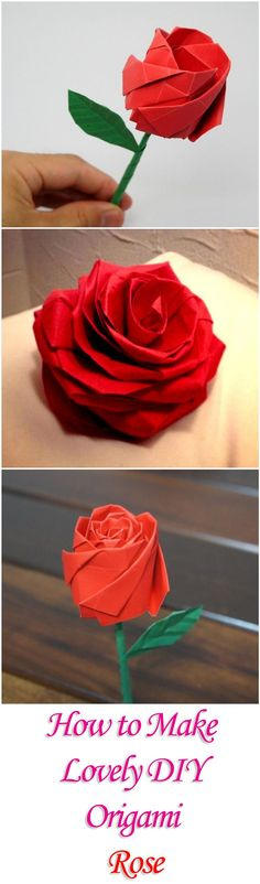 How to Make Lovely DIY #origami Rose