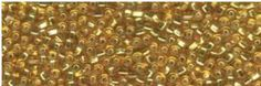 11/0 Japanese Seed Bead 73 Silver-Lined Square-Hole Gold