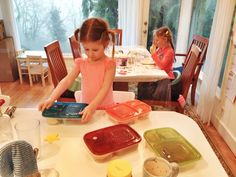 Helping pack lunch with @EasyLunchboxes