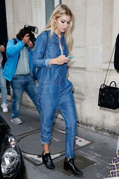 nice Overall denim jumpsuits are in , Around the globe street style inspiration on how to wear denim jumpsuits with high heels or flat shoes for summer 2015. [br]  [thefeedproducts styl... ,  #Dungarees #Howtowear #Inspiringstreetstyle #jeans #jumpsuits #overalls