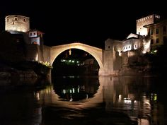 Mostar Bridge by night - Bosnia-Herzegovina