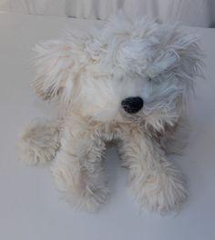"""Gund Dreyfus Shaggy Dog Plush Stuffed Animal Cream Ivory Off-White 14"""" Puppy   #GUND"""
