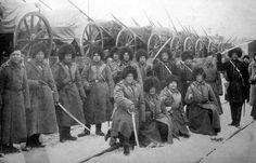 Russian #artillery #regiment boarding on the train before the battle of #Mukden#1904