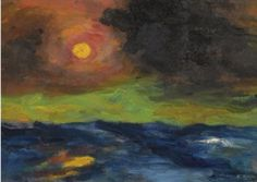 Emil Nolde, Veiled Sun, 1950 on ArtStack #emil-nolde #art