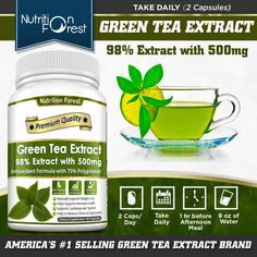 Green Tea Extract Pills, Green Tea Capsules, Dr Oz Show, State Foods, Green Tea Benefits, Improve Metabolism, How To Make Tea, Natural Supplements, Product Label