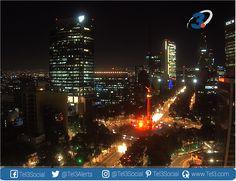 La iluminación del Ángel de la Independencia #CDMX esta noche, a favor de la lucha contra el #VIH #SIDA #Mexico j.mp/2eoDgZO