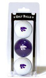 Kansas State Wildcats 3 Pack of Golf Balls