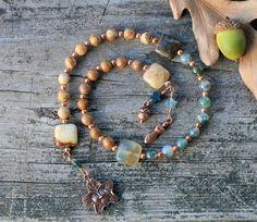 Spirit of Trees Pagan Prayer Beads Shades of Autumn