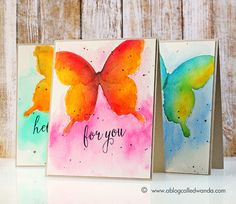 Beautiful watercolor butterflies by Wanda Guess (Tutorial included on blog)