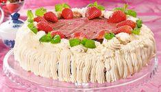 Fantastisk festkake for deg som har litt tid Pavlova, Allergies, Baking, Cake, Desserts, Food, Tailgate Desserts, Deserts, Bakken
