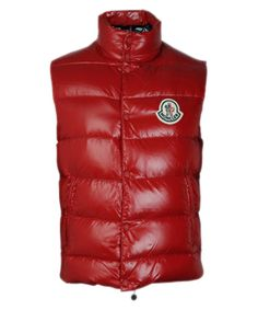 Moncler Clairy Popular Women Sleeveless Down Vest Red [2781483] - £115.19 :