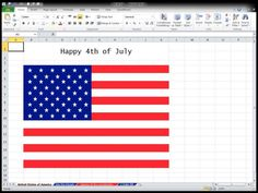 4th-of-July-US flag in Excel 2010
