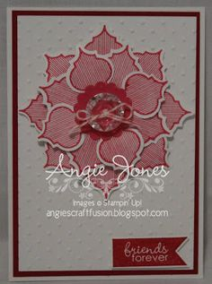Angie's Craft Fusion: flower card with Stampin Up Mosaic Madness Stampin' Up!