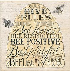 Another great find on 'Hive Rules: Bee Kind' Embossed Paper Cocktail Napkin - Set of 20 I Love Bees, Bee Art, Bee Crafts, Bee Happy, Save The Bees, Busy Bee, Bees Knees, Relief Society, Reno