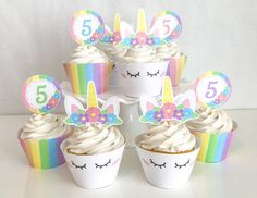 Make your childs party magical with these pastel rainbow unicorn cupcake toppers & wrappers! Turn any cupcake into a sweet treat that will keep all of your party guests fed and happy! ★★★★★★★★★★★★★★★★★★★★★★★★★★★★★★★★★★★ You will be able to download your digital files immediately after purchase via INSTANT DOWNLOAD. ★★PLEASE NOTE★★ I do not edit the toppers for you. You must do this on your own. The only editable part of the label is the number associated with your childs age. You will ...
