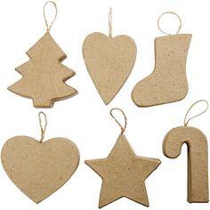 Χριστουγεννιάτικα διακοσμητικά, 7-8 cm, σετ 12 τεμ.