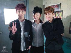 Jung Kook, Jimin & J-Hope during Boy In Luv's MV shooting