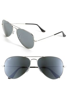'Original Aviator' 58mm Sunglasses silver mirror