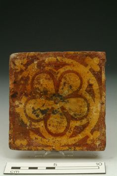 Floor tile Production Date: Late Medieval; mid-late 14th century