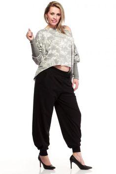 Czarne alladynki plus size Parachute Pants, Harem Pants, Fashion, Moda, Harem Trousers, Fashion Styles, Harlem Pants, Fashion Illustrations