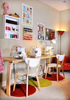 need small table like this for all the sewing machines to stay out at same time.