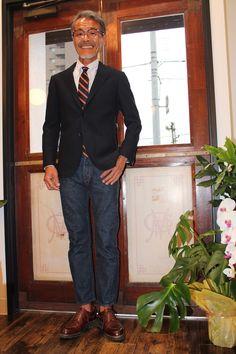 初心者から玄人さんまで納得して頂けると思い ますね! - boysmarket Ivy Style, Cool Style, Suit Fashion, Mens Fashion, American Casual, Blazer With Jeans, Business Casual Men, Japanese Men, Vintage Wear