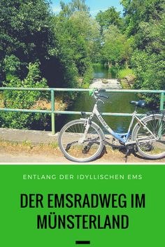 The idyllic EmsRadweg in the Münsterland - From the source to the mouth – bike paths along rivers are particularly popular. They offer pictu - Cafe Pictures, Vacations To Go, My Road Trip, Bike Path, Cycling Art, Bicycle Design, Camping And Hiking, Trekking, Paths