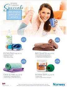 January 2015 Norwex Customer Specials Canada. I am having a Norwex Book Party to include any residents in the city of Spruce Grove or Stony Plain. Let me know if you wish to place an order.