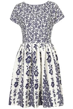 topshop dress  .. blue + white .. yes please!