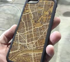 CutMaps is a company that makes phone cases that have laser cut wooden cities engraved into the back of them. The company takes a map of the downtown area of various cities across the United States an. Trotec Laser, Laser Cut Wood, Laser Cutting, Laser Art, Laser Cutter Ideas, Laser Cutter Projects, Woodworking Shows, Woodworking Projects, Woodworking Bed