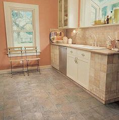 Tile Floor #Tile #Kitchen