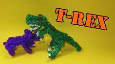 Rainbow Loom Charms: T-Rex (Tyrannosaurus Rex / Dinosaur): How To Design...