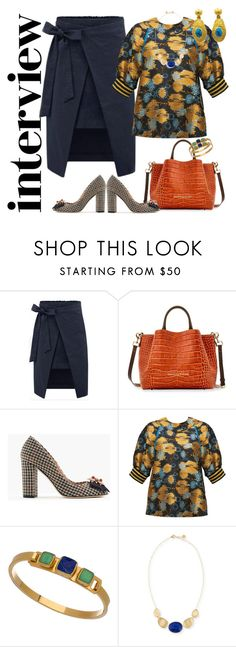 """""""For a Job"""" by petalp ❤ liked on Polyvore featuring Dooney & Bourke, J.Crew, Cynthia Rowley, Janna Conner Designs, Marco Bicego, jobinterview and 60secondstyle"""