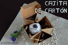 Bombas de semillas en cajitas de cartón. Un regalo perfecto