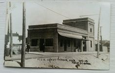 Vintage Michigan Interurban Railroad Station Postcard Mason MI Early 1900s   eBay