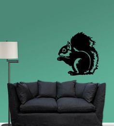 Squirrel vinyl decal by RedBirdDecals on Etsy, $35.00
