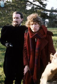 Logopolis. Anthony Ainley as The Master says farewell to Tom Baker's Doctor Who