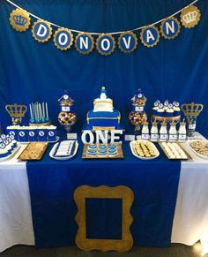 Royalty Blue Gold Birthday Party Ideas