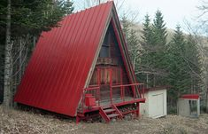 japanese house  framing | Small a-frame at the foot of Mt.Fushimi Memuro, Japan. Photo by ...