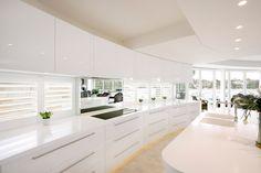 White Kitchen Sydney Interior Design With Light Roof, log home interior design, home interior design photos ~ Home Design Interior Design Pictures, Home Interior Design, Bathroom Renovations, Log Homes, This Is Us, Kitchen Design, House Design, Welsh, Dean