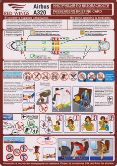 Safety Card  Red Wings A320 (1) FRONT