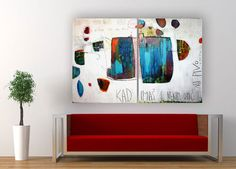"""Original 2 panel painting - Abstract set of 2 wall art – Not everything is so gray- Tryptic acrylic painting - 47"""" (120cm) x 31.5"""" (80cm)"""