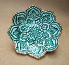 Malachite green Lotus Bowl by dgordon on Etsy, $12.00