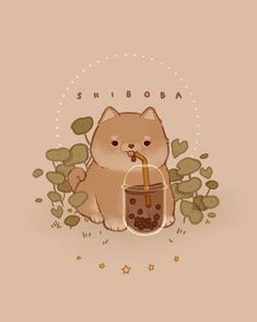 SHIBOBA 🐕 cute art everyday made by ✦ Tag + to inspire more cuteness into the world. Aesthetic Drawing, Aesthetic Anime, Aesthetic Art, Wallpaper Doodle, Kawaii Wallpaper, Wallpaper Backgrounds, Iphone Wallpaper, Cute Kawaii Drawings, Kawaii Art