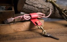 Italian leather go with high-quality bronze hardware, muiti-function Keychain, mobile phone stand & cable retractor. Phone Stand, Leather Keychain, Italian Leather, Cable, Hardware, Bronze, Personalized Items, Bracelets, Jewelry