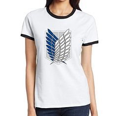 Attack On Titan Japanese Manga Series Comfortable Tshirts Womans * BEST VALUE BUY on Amazon