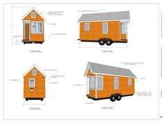 The Muschata Tiny House on Wheels is a 160 sq. It's a tiny house you can build on a trailer and take with you anywhere. Plan Tiny House, Tiny House Plans Free, Modern Tiny House, Tiny House Living, Tiny House Design, Tiny House On Wheels, Small Living, Tiny Cabins, Cabins And Cottages