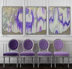 gran obra de arte abstracta textured con una mezcla de pinturas acrílicas, vidrio reciclado y resina capa para crear un resumen realmente único