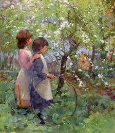 Elizabeth Adela Stanhope Forbes (Canadian painter) 1859 – 1912  The Orchard, s.d.